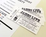 $12 Vintage Rock n Roll - Custom Ticket Invite